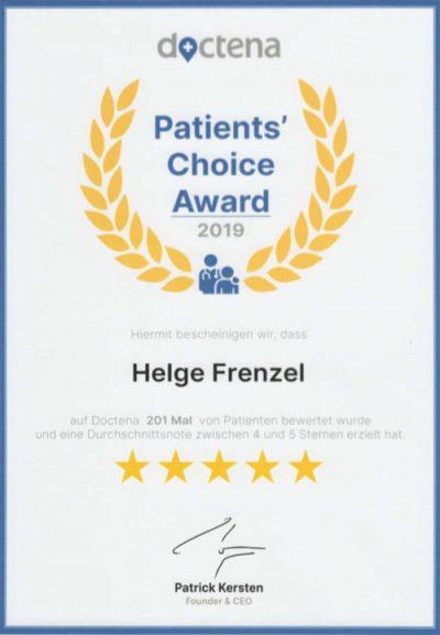 Dr Frenzel Doctena Auszeichnung 2019